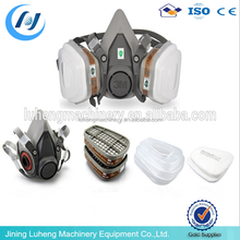 chemical gas mask /respirator mask dual cartridge 3M gas mask 6200
