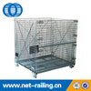 Industrial folded mesh nestable storage containers