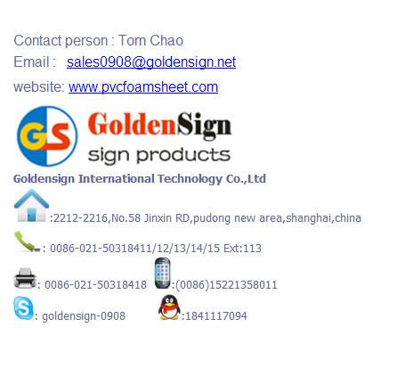 (SGS)(1-40mm)High Quality PVC Foam Sheet / PVC Foam Board