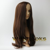 Natural Looking Lace Front Human Long Hair Skin Top Kosher Sheitel Wig