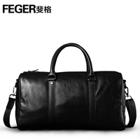 Airline Company Vender Genuine Leather Travel Bag Vintage Leather Duffel Bag
