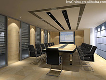 Great complete meeting room/office partition movable/Soundproof conference hall sliding walls wood movable partition