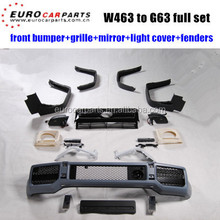 G63 body kits fit for BENZ G-CLASS W463 G500 G550 G55 changing into G63 style PP full set