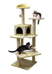 Anhui OSA cat tree house with top bed for kitty cat