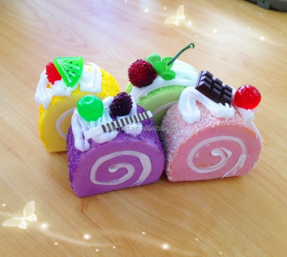 Kawaii Squishy Swiss Roll Sponge Cake With Fancy Top Phone Straps/yiwu Sanqi Craft Factory - Buy ...