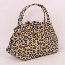 B237 Korean style cute flower printed canvas bags and small wholesale
