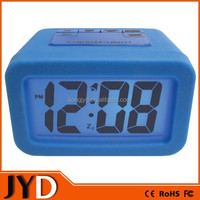 JYD- DAC06 2015 New Advance Time Technology Silicone Desktop LED Alarm Clock with Matching Backlight