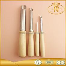 4 pcs mango de madera de artista de la cerámica de arcilla herramienta