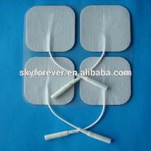 5 X 5 cm 2.0 mm cola de cerdo no tejido almohadillas de electrodos