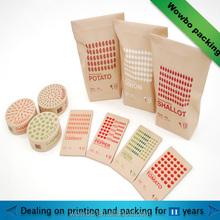 2015 hot sale snack packaging kraft paper bag