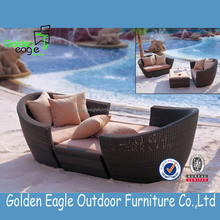 Outdoor Guangdong Furniture, Poolside PE wicker Sofa