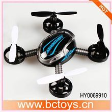 2014 New 3D Flying 6 Axis Aircraft 10cm Mini Ufo Rc Quadcopter full function radio control toy car HY0069910