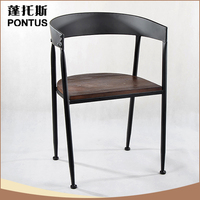 Good quality black antique imitation metal restaurant chair with low price