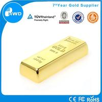 Cool Rectangle 2015 Novelty laser print USB Flash Drive Gold Bar Design USB flash disk