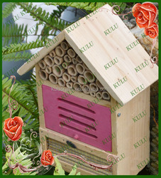 new style pine wood insect house,bamboo insect box