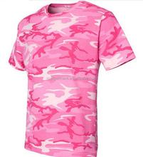 2015 Summer New Fashion Pink Camo Full Print T Shirt