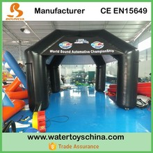 Customized 0.4mm PVC Black Inflatable Advertsing Tent Price