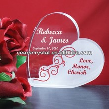 Unique design crystal gifts,heart shape paperweight wedding anniversary gifts(R-2240)