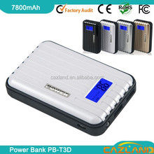 2012 best sale portable power bank for mobile phone with led with dual output/wholesale high capacity power bank