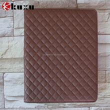 Elegant gridding design flip cover leather case for ipad