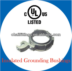Manufacturer for malleable Insulated Grounding Bushings with lug