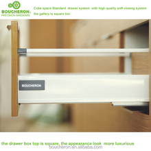 Venus height 140mm kitchen double walled drawer box systems with soft closing, kitchen cabinet drawer,soft close drawer box