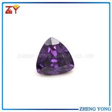 top quality cubic zirconia/trillion cut cz gemstone amethyst