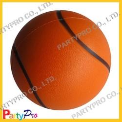 Partypro 2015 New Wholesale PU FOAM 4/5/6.3CM DIA Colorful Basketball Stress Ball