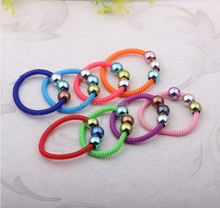 factory shipping 2015 new style thin telephone wire hair band with beads