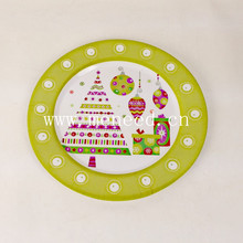 christmas tree design melamine round plate