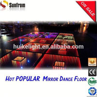 2015 Popular Qatar ifinity rgb colorful illuminated led dance floor