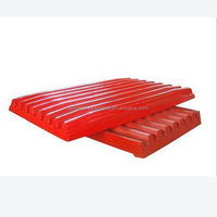 hot sale jaw plate for stone crusher with good grinding and cleaning surface