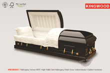 Precio de ataúdes PRESIDENCIALES, suministros para funerales de tipo europeo, ataúdes simples de madera