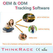 Professional wireless car alarm cell phone gps tracking software /gps tracking system by Thinkrace