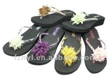 2012 most popular EVA high platform wedge flower sandals