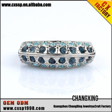 2015 Famous New products blue lucky stone silver ring wholesale