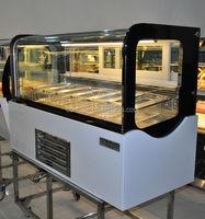 Curved Glass Door freezer /Ice Cream Freezer with CE