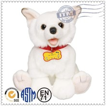 Custom production super cute stuffed animal american eskimo dog plush toy