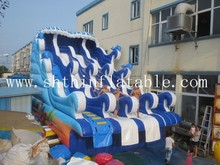 giant inflatable water slide with pool , inflatable water pool slide