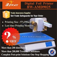 Promotional AMD9025 digital personalized greeting cards hot foil stamping printing machine