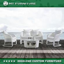 modern design and popular rattan outdoor sofa set 4pcs furniture