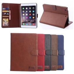 hybrid Retro crazy horse wallet case for iPad mini 1/2/3, for ipad mini 1/2/3 leather wallet case
