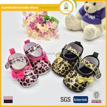 Hot sale wholesale china Leopard pattarn pu leather cheap kids dress shoes
