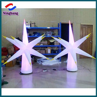 NB-ST2030 NingBang white new attractive inflatable led stars with base