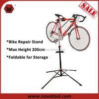 Mechanic Bicycle Repair Stand Adjustable Height Bike Rack Stand Portable with Free Tools Holder Tray