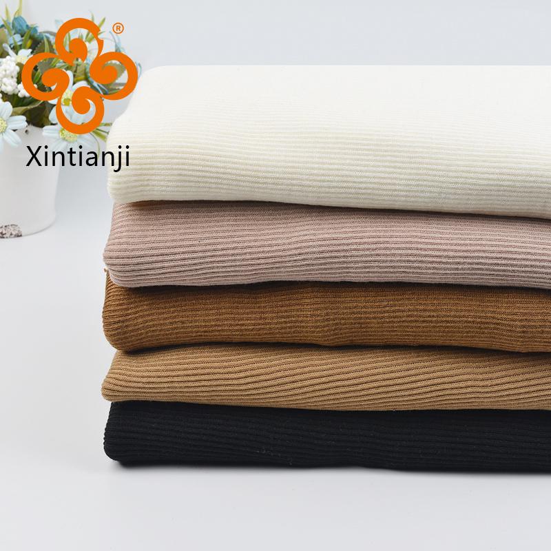Полушерстяные ткани в рубчик эластичный с спандекс для весны