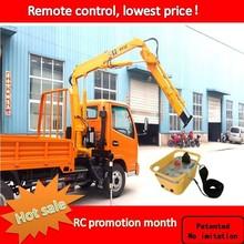 Mini 2ton crane truck with remote control, rc crane with truck