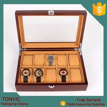 Luxury Wooden Watch Display Case for 10 slots