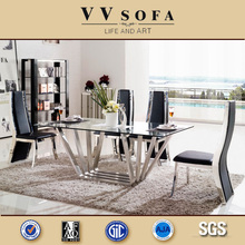 vv sofa kangbao furniture Modern Stainless Steel Dining Table