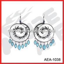 circle round chandelier earrings